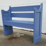 Bench Made From a Door