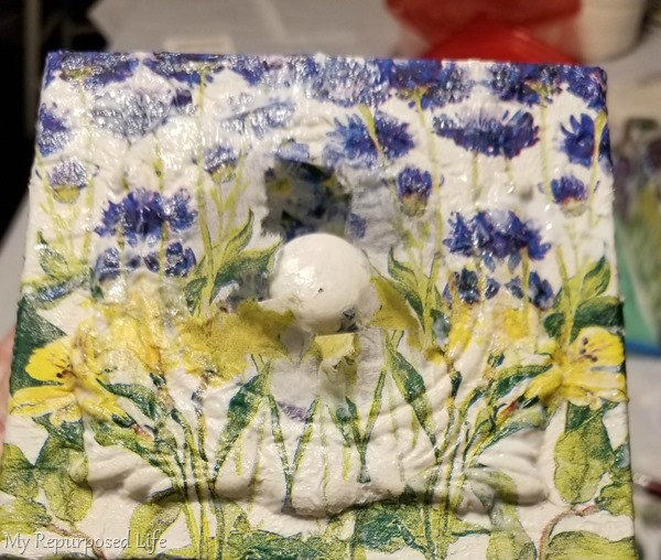 decoupage sewing drawer