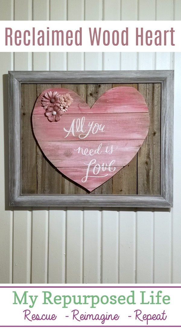 reclaimed framed wood heart My Repurposed Life