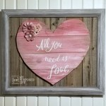 Reclaimed Wood Heart (Weathered Fence Boards)