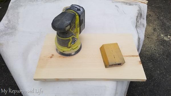 sand wooden letter board