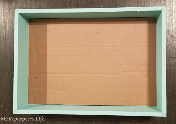 cut cardboard to fit drawer jewelry organizer