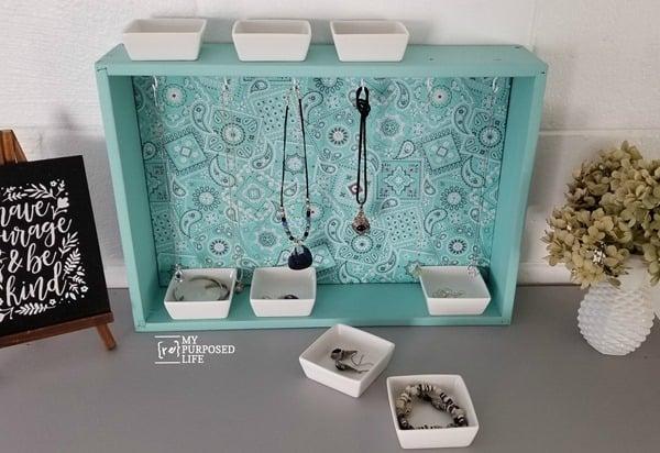 Repurposed Drawer Jewelry Organizer My Repurposed Life Rescue Re Imagine Repeat