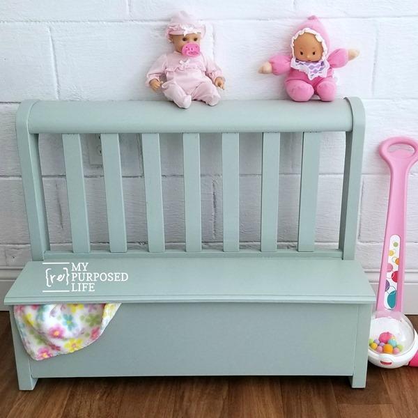 green toy box bench MyRepurposedLife