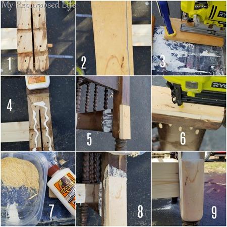 step by step repair bed post