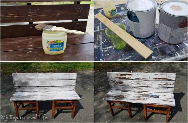 chippy paint using vaseline