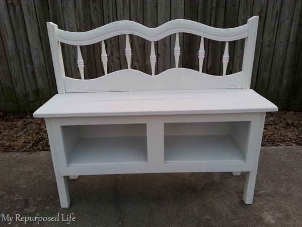diy entryway bench using a kitchen cabinet