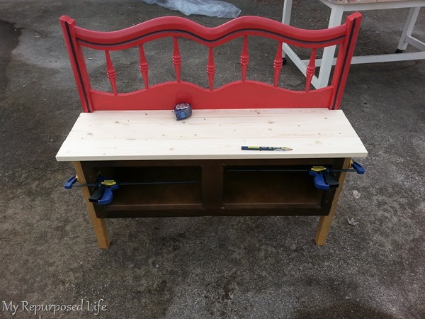 making a headboard entryway bench