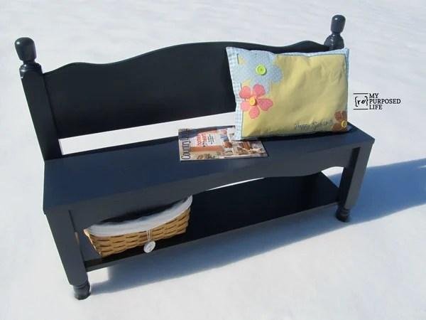Twin Headboard Bench With Shelf My, Headboard With Matching Storage Bench