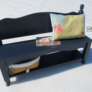 navy blue headboard bench with shelf storage