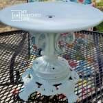 Repurposed lamp base pedestal plate