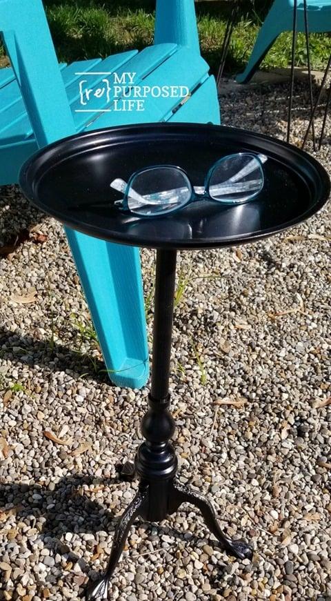 small brass table makeover MyRepurposedLife