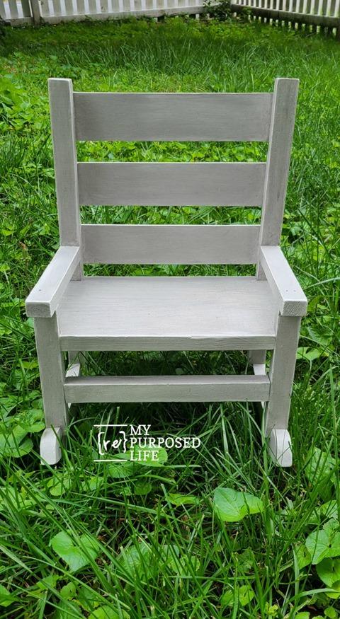 glazed doll rocking chair MyRepurposedLife