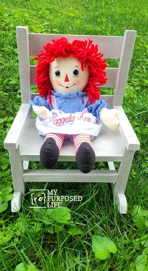 raggedy ann doll rocking chair MyRepurposedLife
