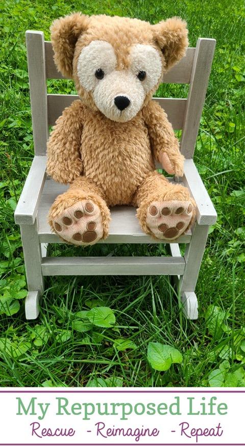 repair and paint doll rocking chair MyRepurposedLife