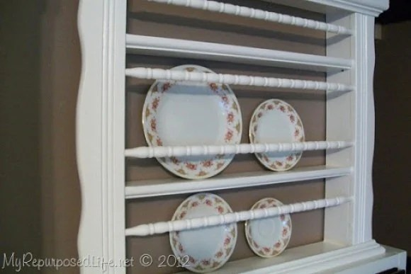crib spindles plate rack