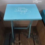 T.V. Tray Table Makeover