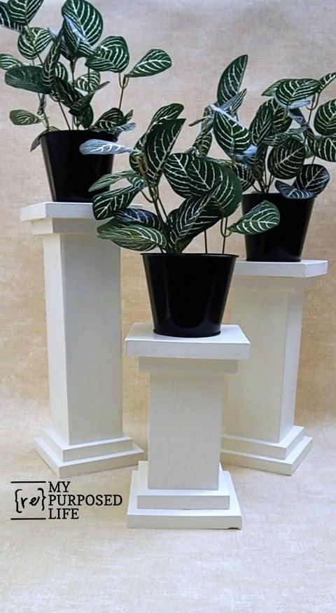 4x4 chunky pedestal with double base MyRepurposedLife