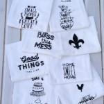 Decorative Flour Sack Towels