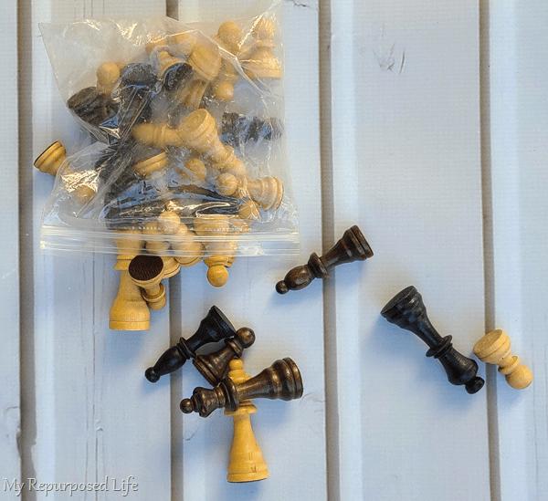 repurposed chess pieces