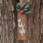 Scrap Wood Christmas Ornaments