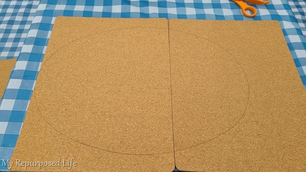 trim cork board to size