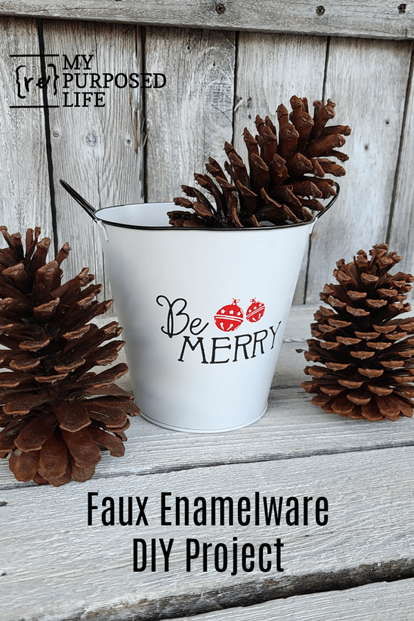 Faux Enamelware DIY Project MyRepurposedLife