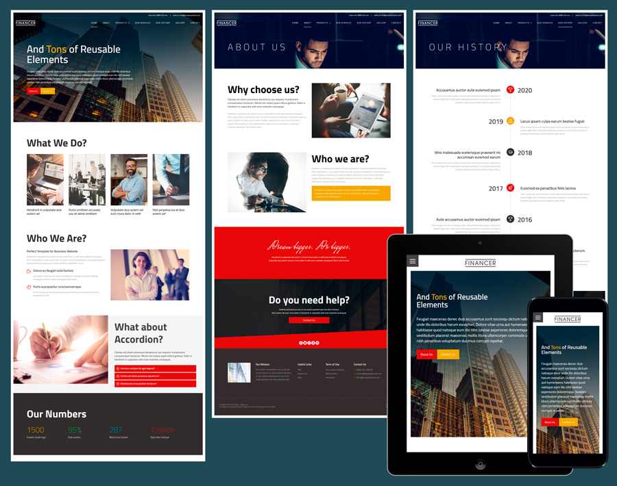 Templates.com presents business website templates that meet high quality standards. 18 Free Amazing Responsive Business Website Templates