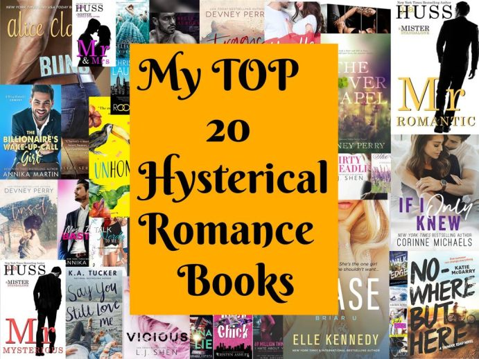 My TOP 20 Hysterical Romance Books