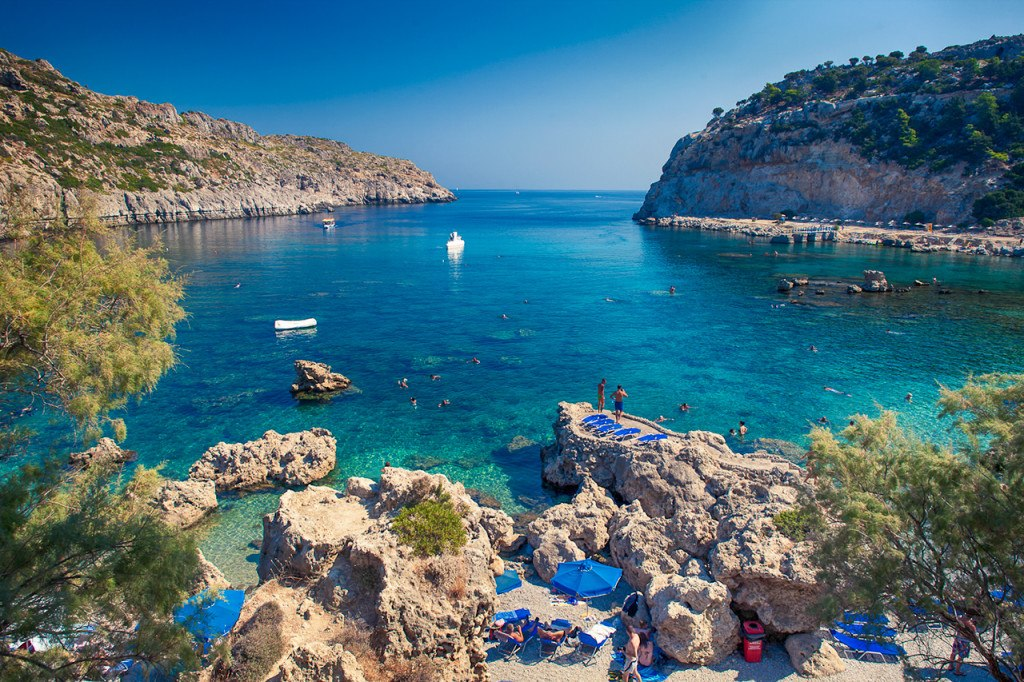 One of the most beautiful beaches of Rhodes Island