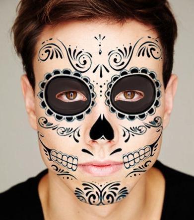 black skeleton day of dead