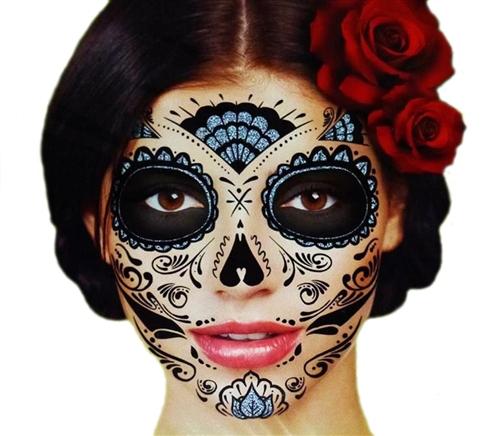 black glitter skeleton day of