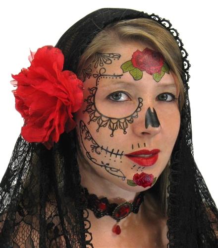 lace sugar skull day of dead