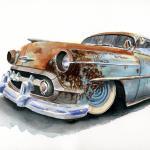 Hot Rod Art In Watercolors It S Hot Rod Paintings Myrideisme Com