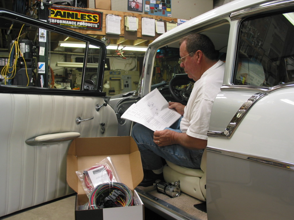 painless wiring installation instructions lewis dot diagram for c2h4 1956 chevy belair install how to