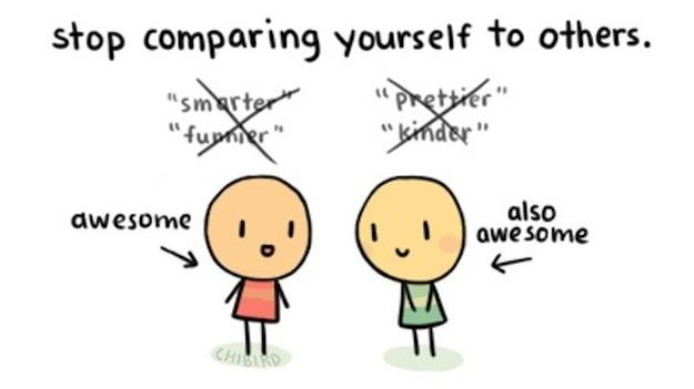 Image result for stop comparing yourself