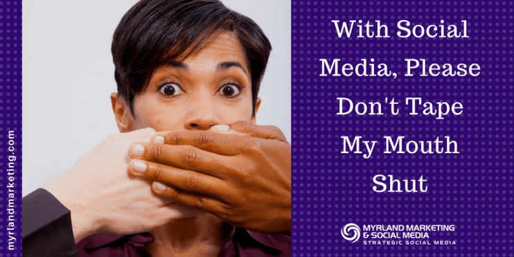 With Social Media, Don't Tape My Mouth Shut By Turning Comments Off