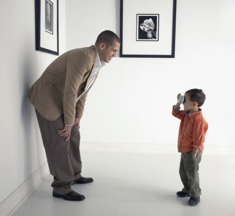 Social Media - Son Photographing His Dad On Take Your Child To Work Day