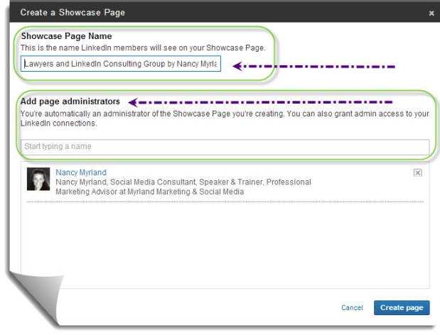 How To Create A LinkedIn Showcase Page - Step 3