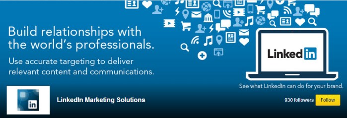 LinkedIn Showcase Page For Their Marketing Solutions Product