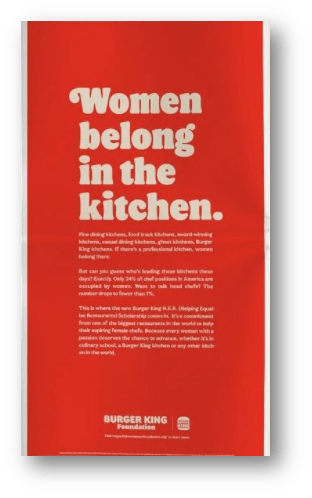 Burger King's Ad in The New York Times