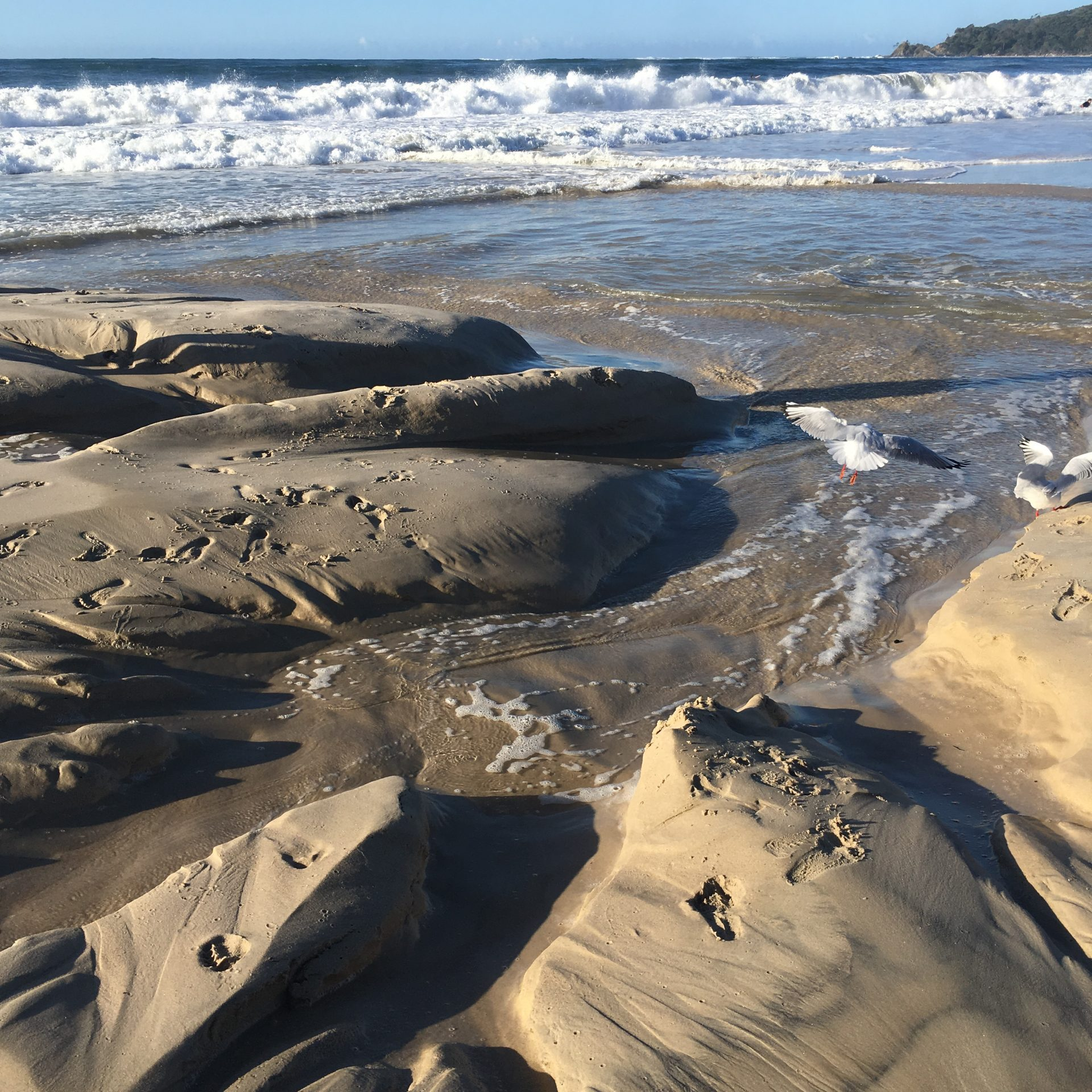 beach washed out byron bay