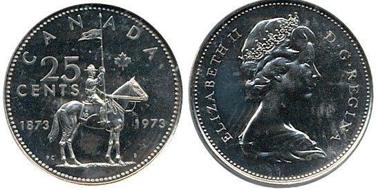 BU UNC Canada 2007 quarter 25 cent 25c regular caribou coin from mint roll