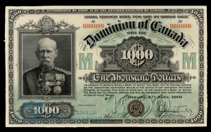 1901 Dominion of Canada Thousand Dollar Bill