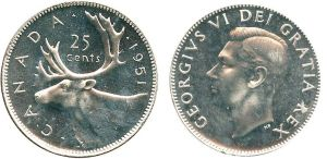 1951 Low Relief Quarter