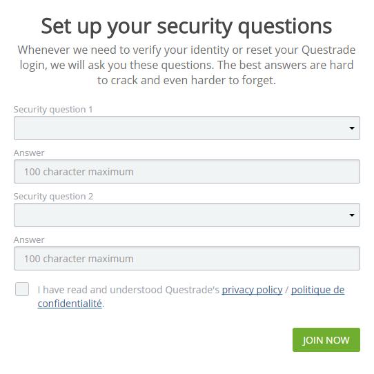 Questrade security questions 4