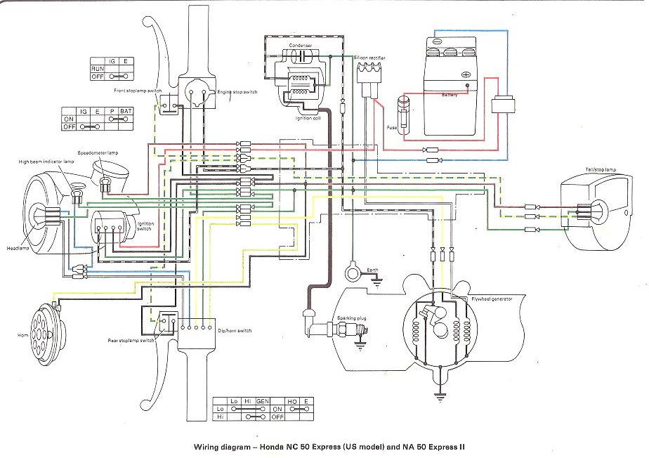 1982 honda express nc50 wiring diagram