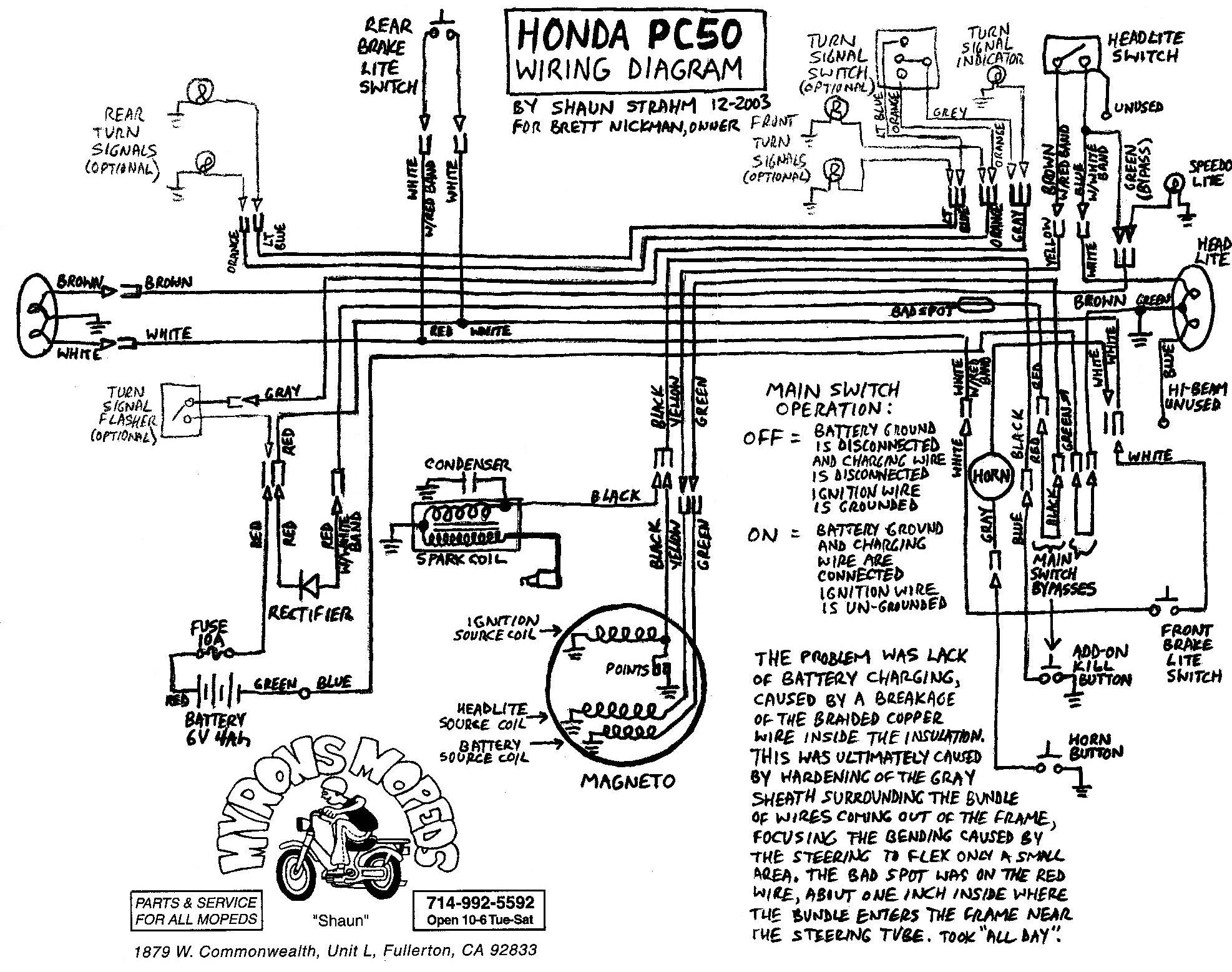 honda 50 c100 wiring diagram