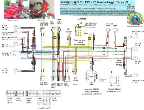 small resolution of tomos wiring diagrams myrons mopeds 2005 tomos moped wiring diagram