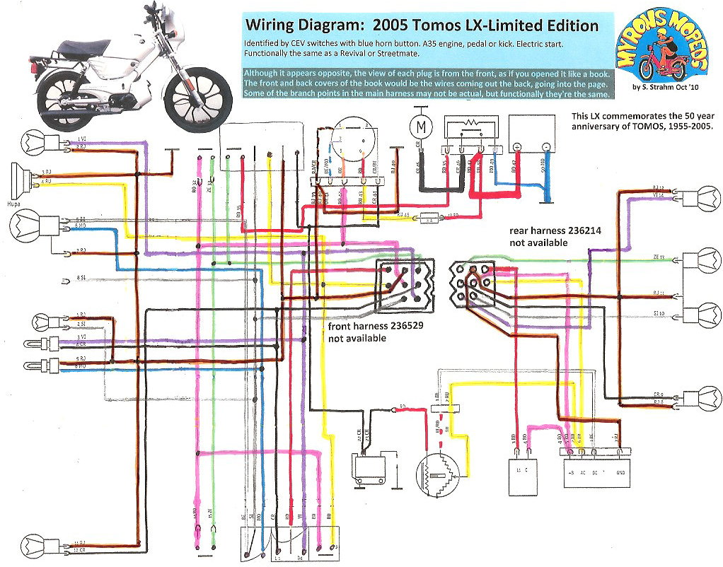 2000 Tomos Wiring Diagram Trusted Diagrams Trx450es 150cc Scooter